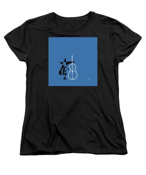 Dancing Bass In Blue Women's T-Shirt (Standard Cut) by David Bridburg