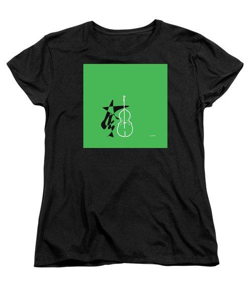 Dancing Bass In Green Women's T-Shirt (Standard Cut) by David Bridburg