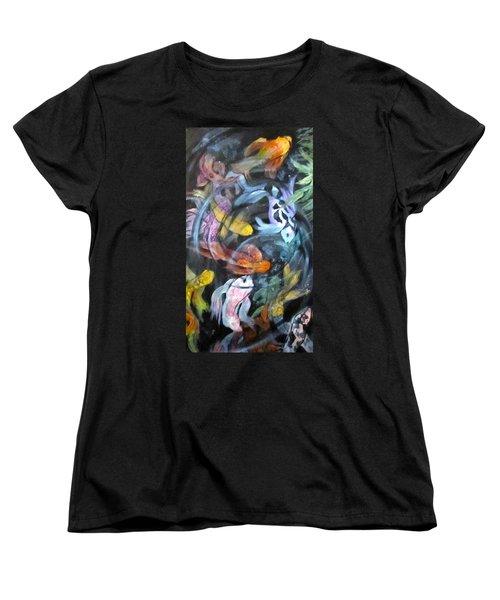 Dancing Koi Women's T-Shirt (Standard Cut) by Barbara O'Toole