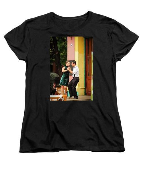 Dancing Tango Women's T-Shirt (Standard Cut) by Silvia Bruno