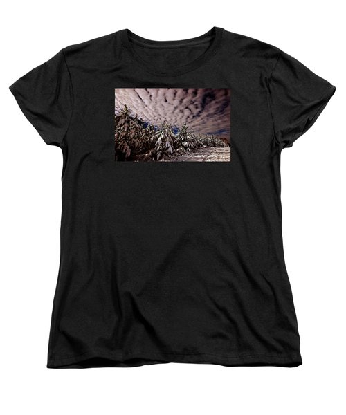 Dancing Trees  Women's T-Shirt (Standard Cut) by John Harding