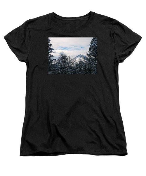Dancing Woman Mountain In The Winter Women's T-Shirt (Standard Cut)