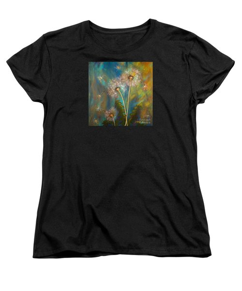 Dandelion Wishes Women's T-Shirt (Standard Cut) by Deborha Kerr