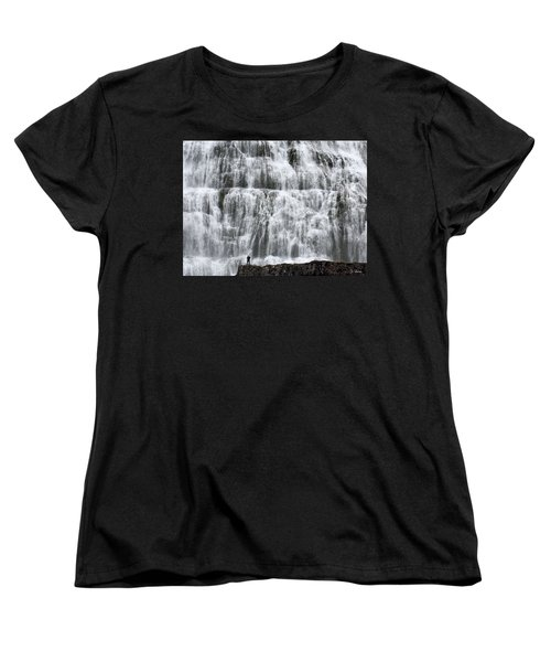 Women's T-Shirt (Standard Cut) featuring the photograph Dynjandi Daredevil by Joe Bonita