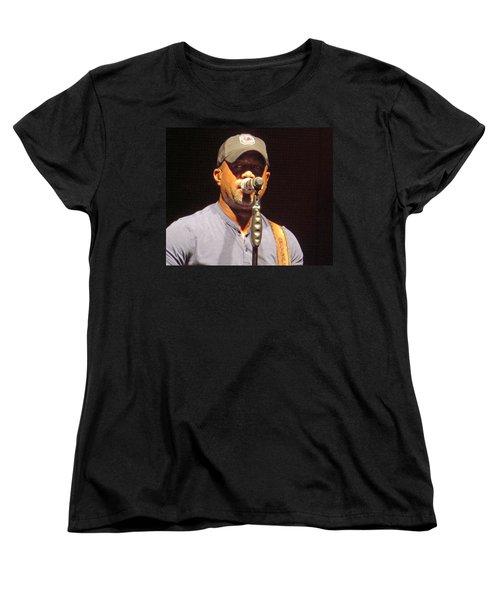 Darius Rucker Live Women's T-Shirt (Standard Cut) by Aaron Martens