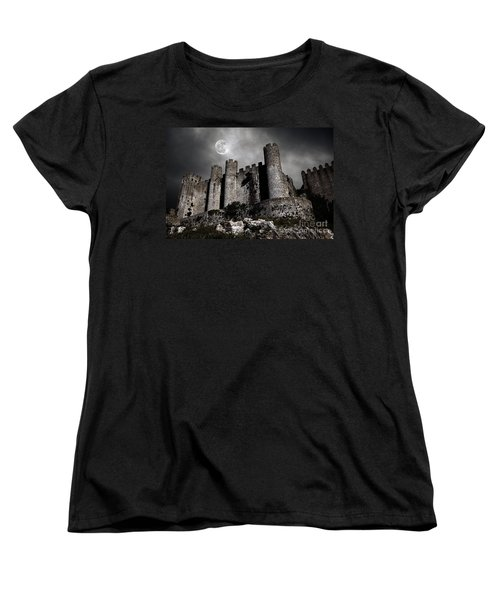 Dark Castle Women's T-Shirt (Standard Cut) by Carlos Caetano