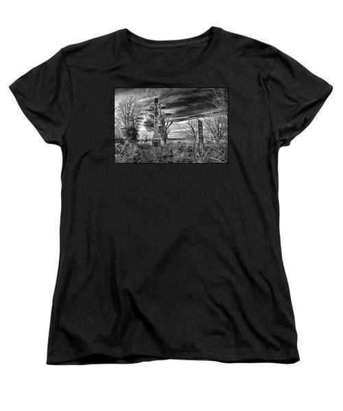 Women's T-Shirt (Standard Cut) featuring the photograph Dark Days by Brian Wallace