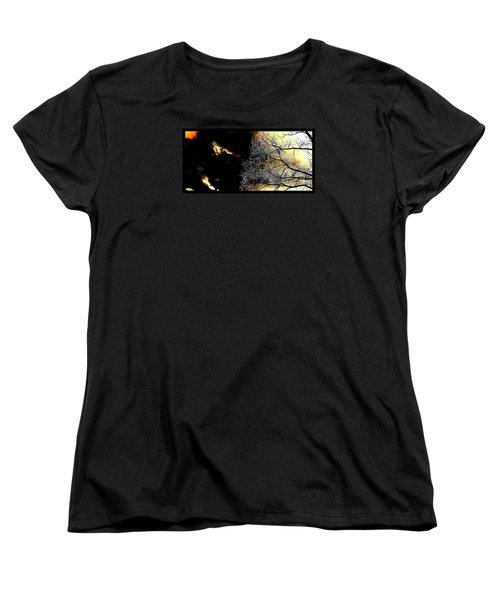 Dark Meets Light Women's T-Shirt (Standard Cut) by Susanne Still