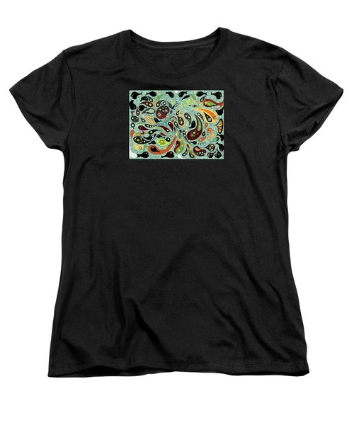 Dark Star Swims Among The Fishes Women's T-Shirt (Standard Cut) by Carol Jacobs