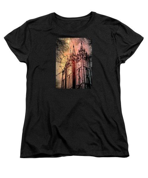 Dark Temple Women's T-Shirt (Standard Cut) by Jim Hill