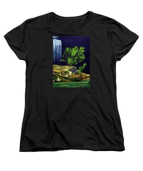 Women's T-Shirt (Standard Cut) featuring the painting Dark Waters by Patricia Griffin Brett