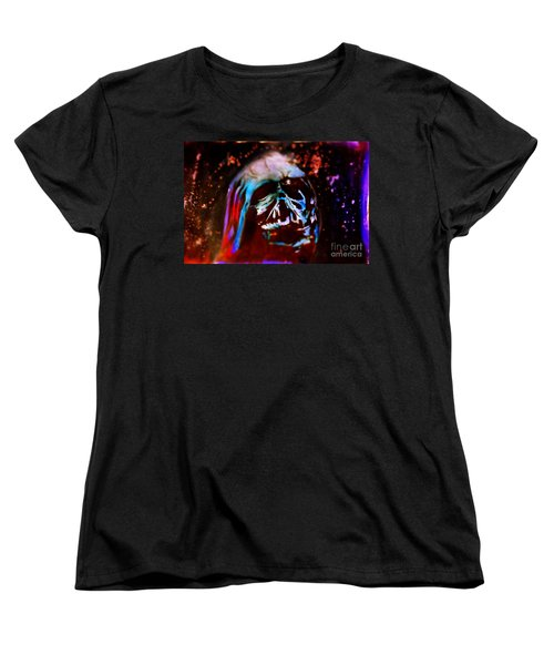 Darth Vader's Melted Helmet Women's T-Shirt (Standard Cut) by Justin Moore