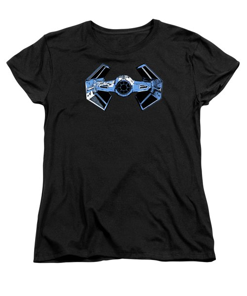 Darth Vaders Tie Figher Advanced X1 Tee Women's T-Shirt (Standard Cut) by Edward Fielding