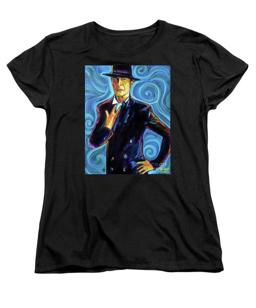 Women's T-Shirt (Standard Cut) featuring the painting David Bowie by Robert Phelps