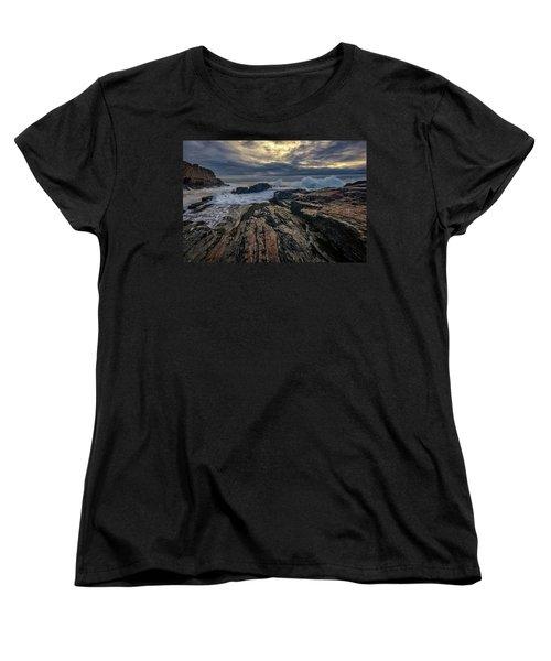 Women's T-Shirt (Standard Cut) featuring the photograph Dawn At Bald Head Cliff by Rick Berk