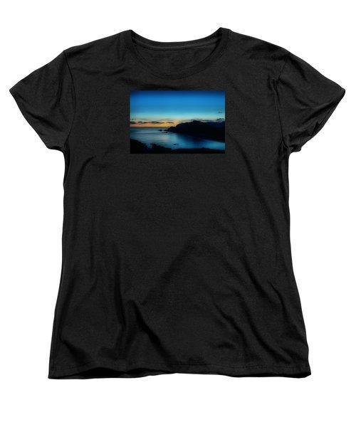 Dawn Blue In Mediterranean Island Of Minorca By Pedro Cardona Women's T-Shirt (Standard Cut)