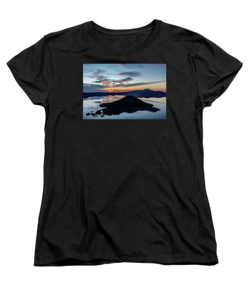 Women's T-Shirt (Standard Cut) featuring the photograph Dawn Inside The Crater by Pierre Leclerc Photography