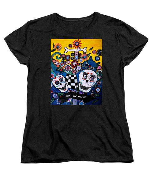Day Of The Dead Women's T-Shirt (Standard Cut) by Pristine Cartera Turkus