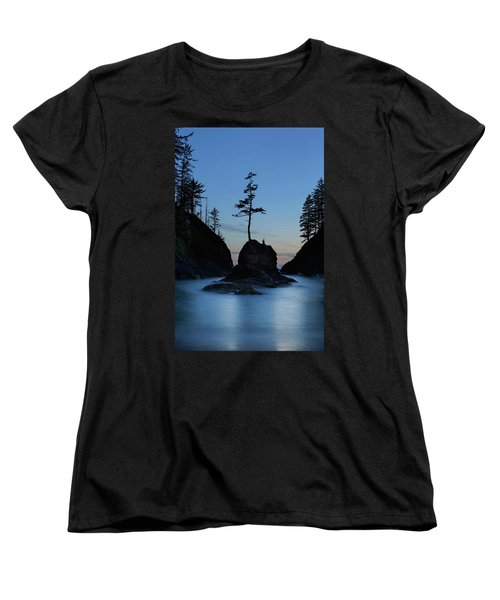 Deadman's Cove At Cape Disappointment At Twilight Women's T-Shirt (Standard Fit)