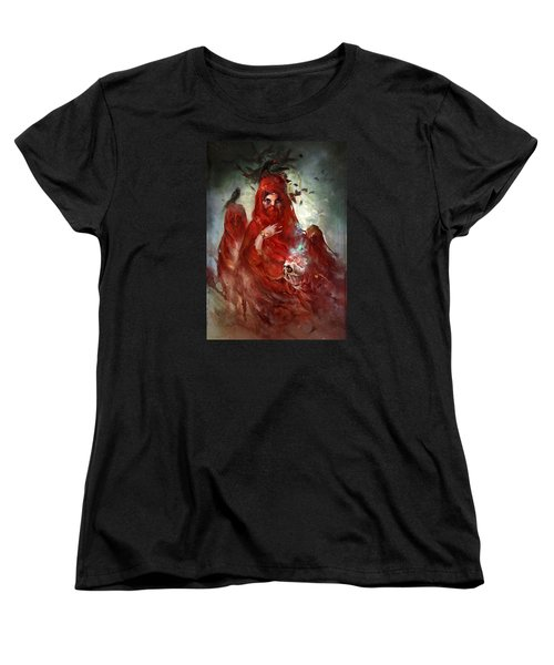 Women's T-Shirt (Standard Cut) featuring the digital art Death by Te Hu