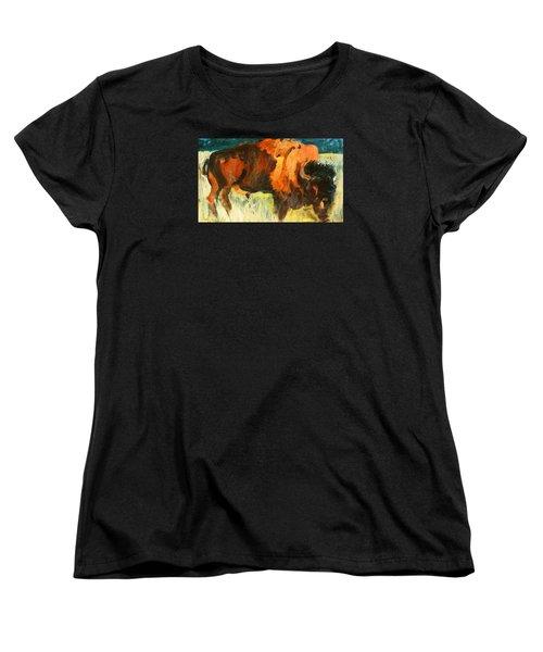 Debbie's Postcard Buffalo Women's T-Shirt (Standard Cut) by Les Leffingwell
