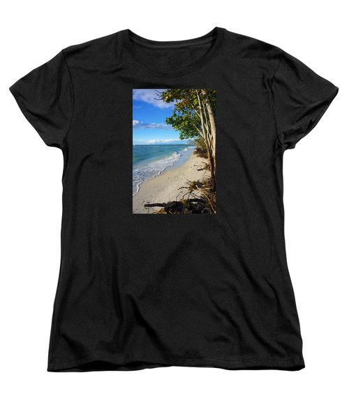 Women's T-Shirt (Standard Cut) featuring the photograph Delnor Wiggins Pass State Park by Robb Stan