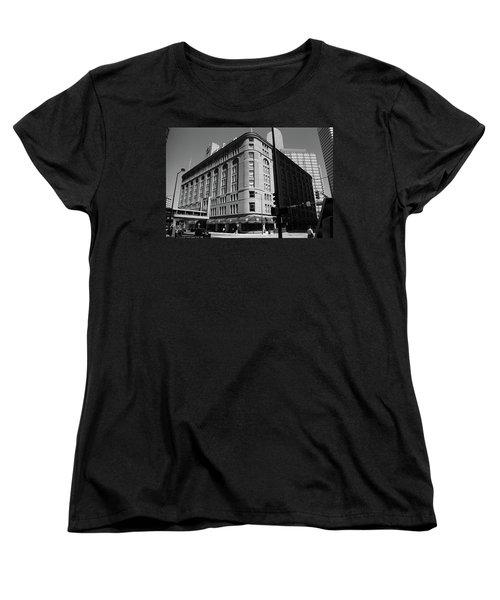 Denver Downtown Bw Women's T-Shirt (Standard Cut) by Frank Romeo