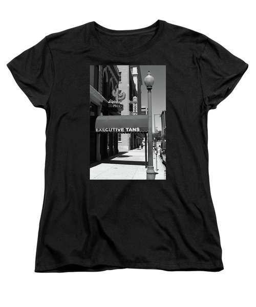 Denver Downtown Storefront Bw Women's T-Shirt (Standard Cut) by Frank Romeo