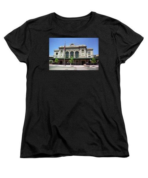 Denver - Union Station Film Women's T-Shirt (Standard Cut) by Frank Romeo