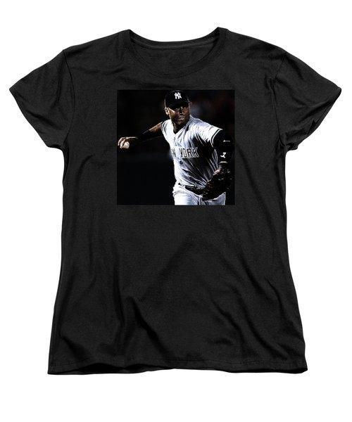 Derek Jeter Women's T-Shirt (Standard Cut) by Paul Ward