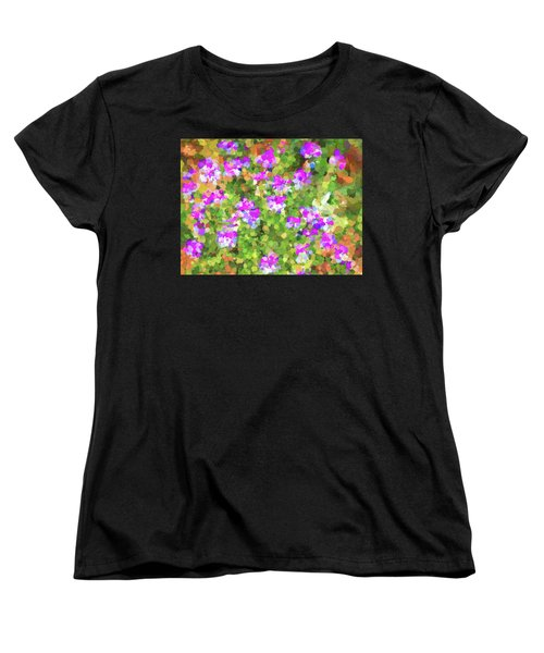 Desert Flowers In Abstract Women's T-Shirt (Standard Cut) by Penny Lisowski