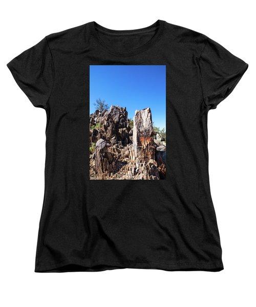 Desert Rocks Women's T-Shirt (Standard Cut) by Ed Cilley