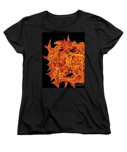 Women's T-Shirt (Standard Cut) featuring the drawing Desire Flair by Jamie Lynn