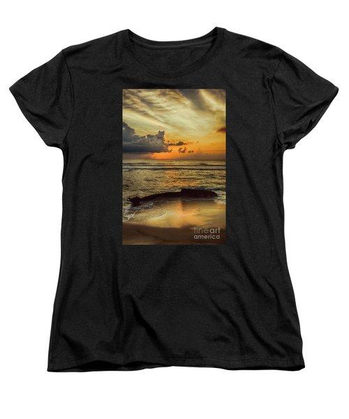 Women's T-Shirt (Standard Cut) featuring the photograph Destruction Of An Outer Banks Shipwreck by Dan Carmichael