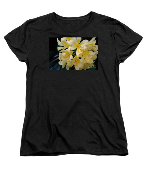 Details In Yellow And White Women's T-Shirt (Standard Cut) by John S