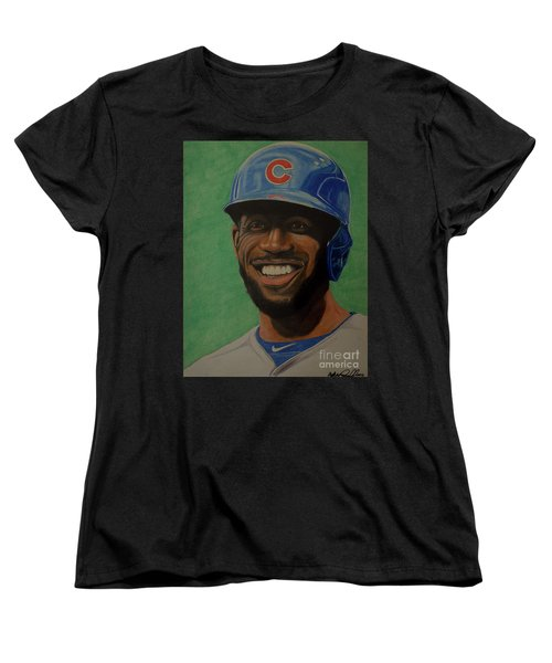 Dexter Fowler Portrait Women's T-Shirt (Standard Cut) by Melissa Goodrich