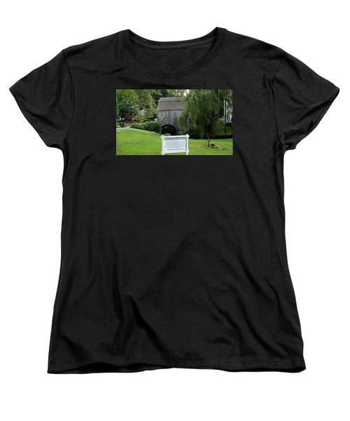 Women's T-Shirt (Standard Cut) featuring the painting Dexter's Grist Mill by Rod Jellison