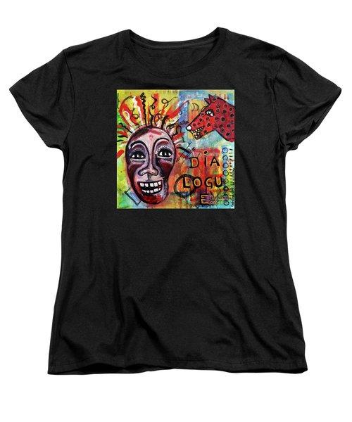 Dialogue Between Red Dawg And Wildwoman-self Women's T-Shirt (Standard Cut)