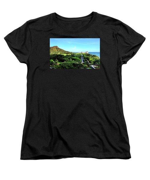 Women's T-Shirt (Standard Cut) featuring the photograph Diamond Head by Kristine Merc