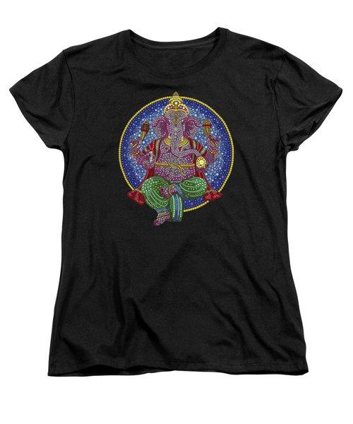 Digital Ganesha Women's T-Shirt (Standard Cut) by Tim Gainey