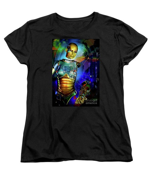 Women's T-Shirt (Standard Cut) featuring the digital art Disconnected by Shadowlea Is