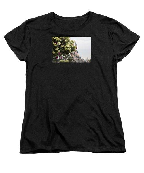 Disneyland Paris Flowers Women's T-Shirt (Standard Cut) by Roger Lighterness