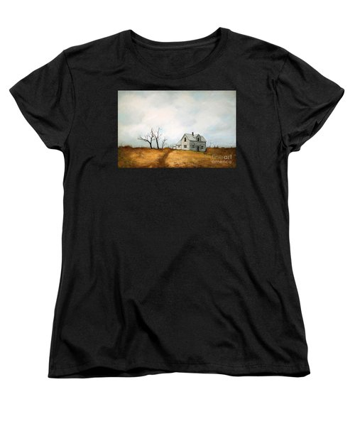 Women's T-Shirt (Standard Cut) featuring the painting Distant by Inese Poga