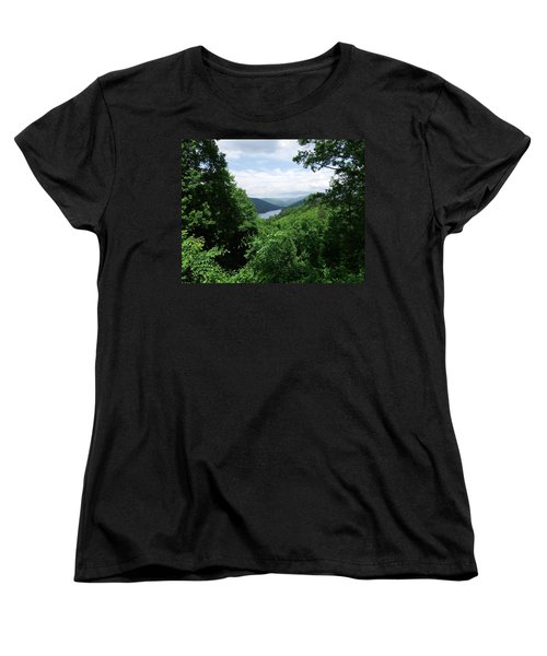 Women's T-Shirt (Standard Cut) featuring the photograph Distant Mountains by Cathy Harper