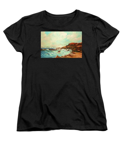 Distant Sails Of The Cove Women's T-Shirt (Standard Cut) by Al Brown