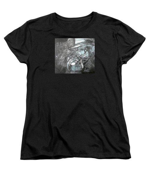 Divine Blues Women's T-Shirt (Standard Cut) by Anne-D Mejaki - Art About You productions