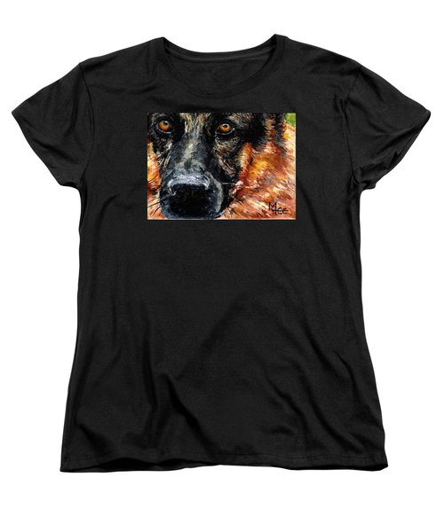 Women's T-Shirt (Standard Cut) featuring the painting Dixie by Mary-Lee Sanders