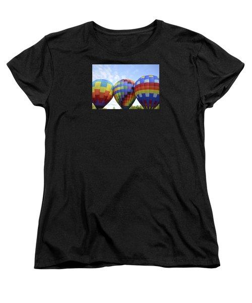 Women's T-Shirt (Standard Cut) featuring the photograph Do We Chance It? by Linda Geiger