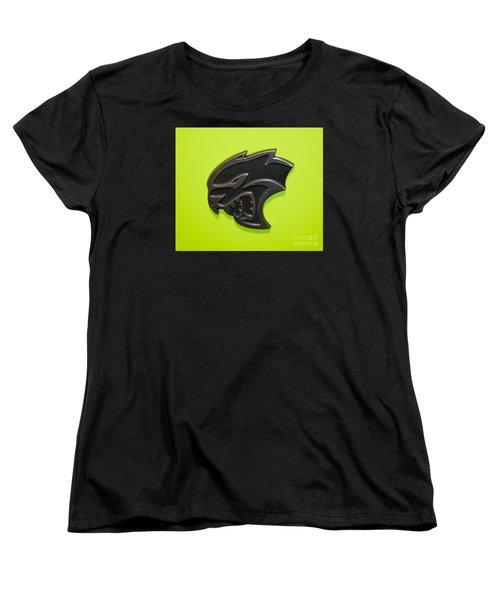 Dodge Challenger Srt Hellcat Emblem Women's T-Shirt (Standard Cut) by Pamela Walrath