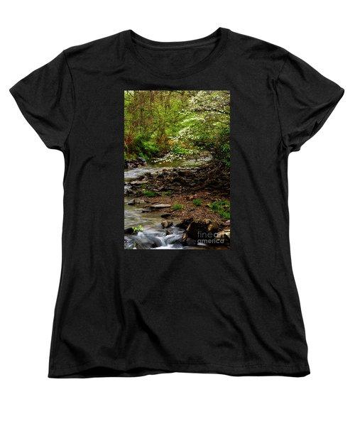 Dogwood At The Bend Women's T-Shirt (Standard Cut) by Thomas R Fletcher